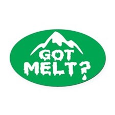 Got Melt Oval Car Magnet