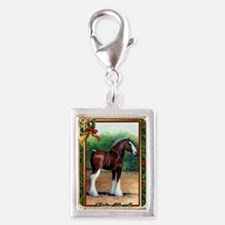 Clydesdale Draft Horse Chris Silver Portrait Charm