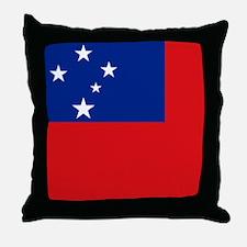 Samoan flag Throw Pillow