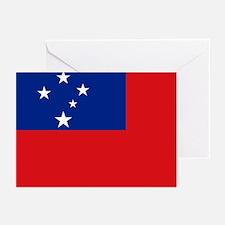 Samoan flag Greeting Cards (Pk of 10)