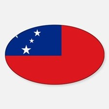 Samoan flag Sticker (Oval)