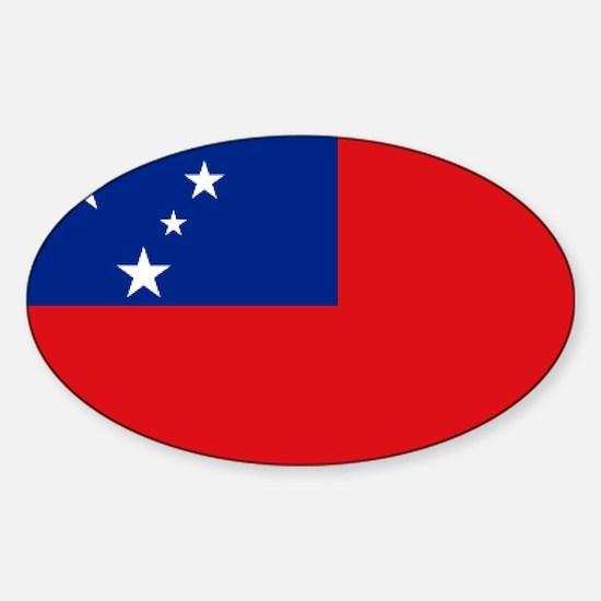 Samoan flag Sticker (Oval)