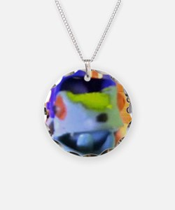 True Blue Frog Says Keep Cal Necklace