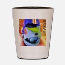 True Blue Frog Says Keep Calm And Croak Shot Glass