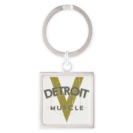 Detroit Muscle copy Square Keychain