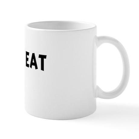 Men eat Quail Mug