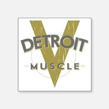 "Detroit Muscle copy Square Sticker 3"" x 3"""