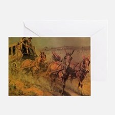 Stage Coach by John Borein Greeting Card