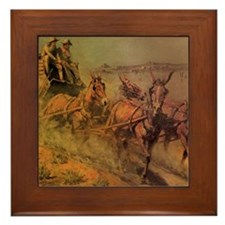 Stage Coach by John Borein Framed Tile