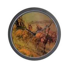 Stage Coach by John Borein Wall Clock