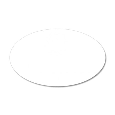 2013 Centered White 35x21 Oval Wall Decal