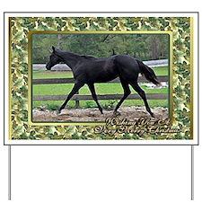 Quarter Horse Christmas Yard Sign