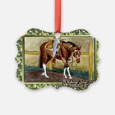 Paint Horse Western Pleasure Chri Ornament