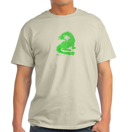 Hi Mum! Green Dragons Light T-Shirt