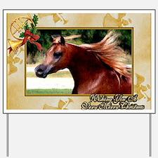 Arabian Horse Christmas Yard Sign