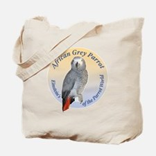 Einstein of the Parrot World (African Gre Tote Bag
