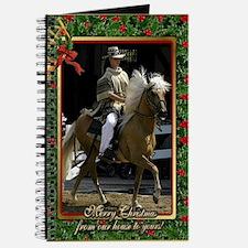Peruvian Paso Horse Christmas Journal