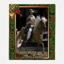Peruvian Paso Horse Christmas Throw Blanket