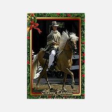 Peruvian Paso Horse Christmas Rectangle Magnet