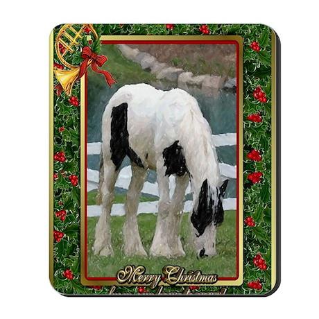 Gypsy Vanner Horse Christmas Mousepad