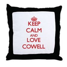 Keep calm and love Cowell Throw Pillow