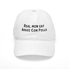 Men eat Arroz Con Pollo Baseball Cap