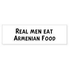 Men eat Armenian Food Bumper Bumper Sticker