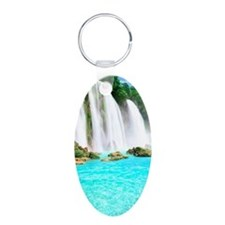 Tropical Waterfall Keychains
