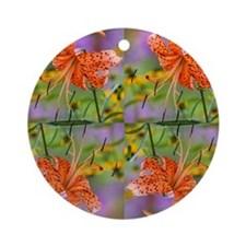 Tiger Lilly Round Ornament