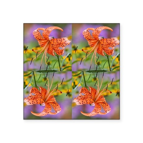 "Tiger Lilly Square Sticker 3"" x 3"""