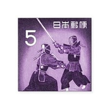 "Purple Vintage 1960 Japan K Square Sticker 3"" x 3"""
