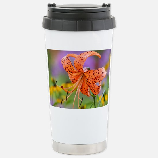 Tiger Lilly Stainless Steel Travel Mug