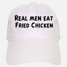 Men eat Fried Chicken Baseball Baseball Cap