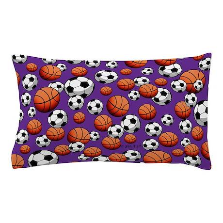 Soccer & Basketball Pillow Case