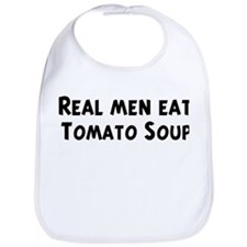 Men eat Tomato Soup Bib