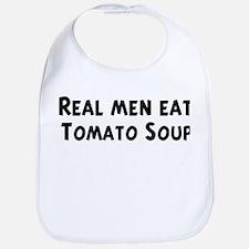 Men eat Tomato Soup Bib