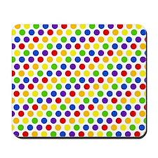 Multi Color Small Polka Dots (2) Mousepad