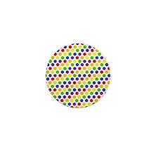 Multi Color Small Polka Dots (2) Mini Button