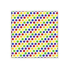"""Multi Color Small Polka Dot Square Sticker 3"""" x 3"""""""