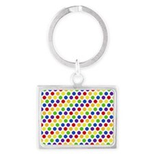 Multi Color Small Polka Dots (2 Landscape Keychain