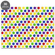 Multi Color Small Polka Dots (2) Puzzle