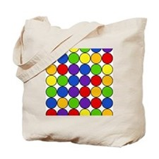 Retro Rainbow Polka Dots (4) Tote Bag