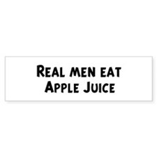 Men eat Apple Juice Bumper Bumper Sticker