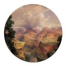 Grand Canyon by Thomas Moran Round Car Magnet