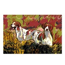 Brittany spaniels in the  Postcards (Package of 8)