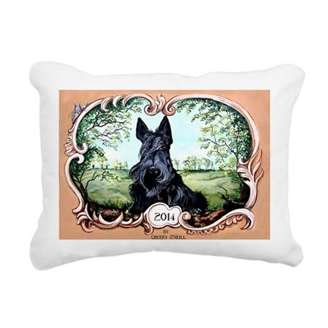 Scottish Terrier 2014 Rectangular Canvas Pillow