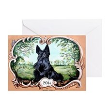 Scottish Terrier 2014 Greeting Card