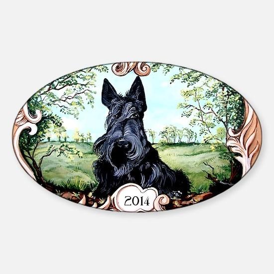 Scottish Terrier 2014 Sticker (Oval)