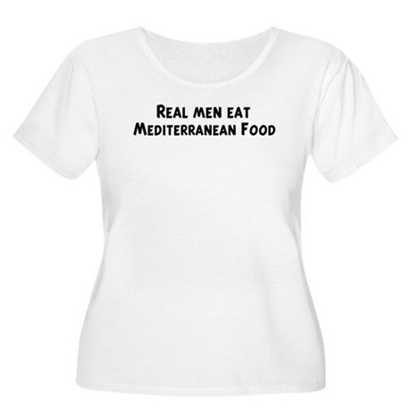 Men eat Mediterranean Food Women's Plus Size Scoop