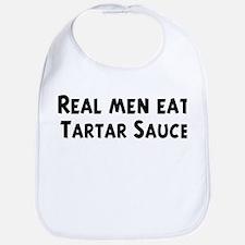 Men eat Tartar Sauce Bib